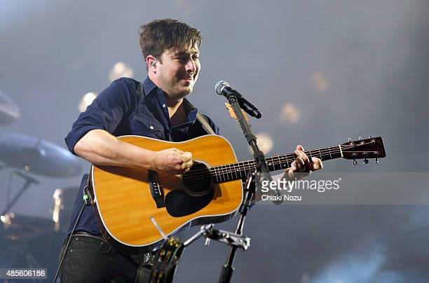 Marcus Mumford of Mumford and Sons performs on Day 1 of The Reading Festival at Richfield Avenue on August 28, 2015 in Reading, England.