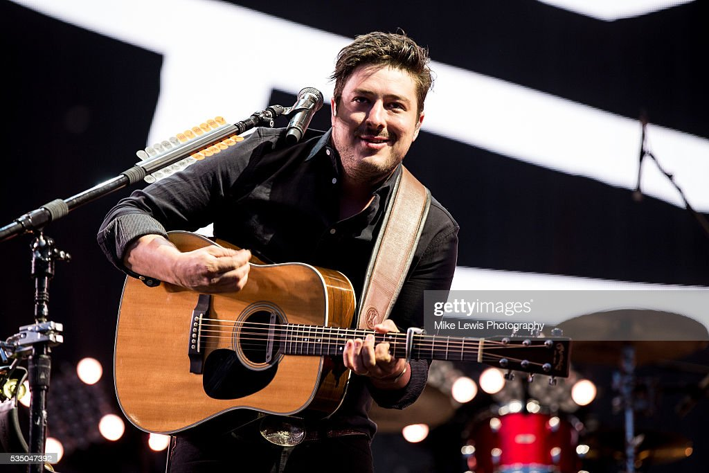 Marcus Mumford of Mumford and Sons performs on stage at Powderham Castle on May 28, 2016 in Exeter, England.