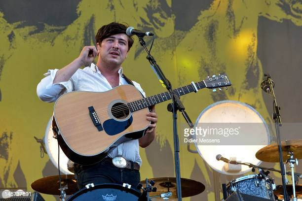 Marcus Mumford of Mumford and Sons performs on stage during Pinkpop Festival on May 28, 2012 in Landgraaf, Netherlands.