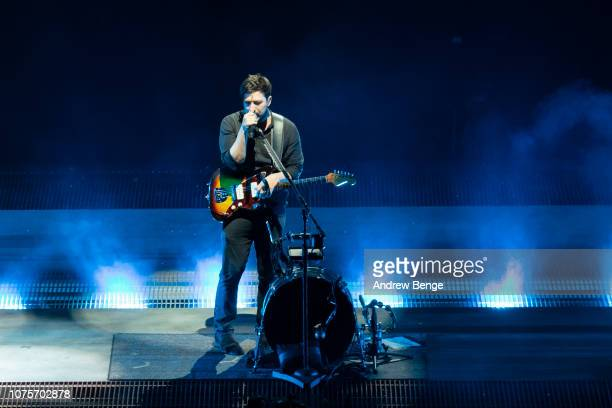 Marcus Mumford of Mumford Sons performs at First Direct Arena on December 01 2018 in Leeds England