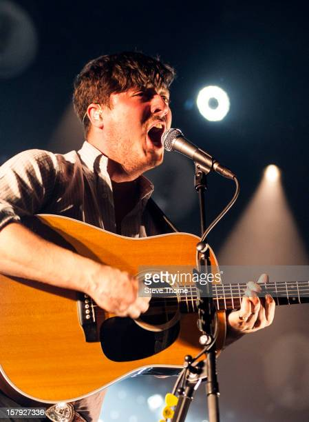 Marcus Mumford of Mumford Sons performs at LG Arena on December 7 2012 in Birmingham England