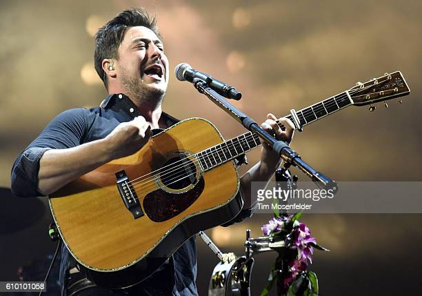 Marcus Mumford of Mumford Sons performs during the 2016 Life is Beautiful festival on September 23 2016 in Las Vegas Nevada
