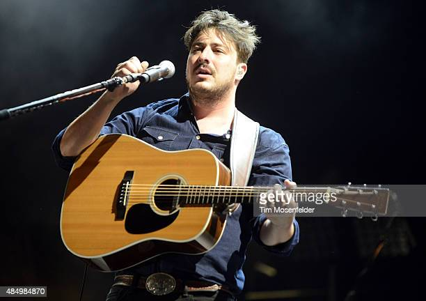 Marcus Mumford of Mumford Sons performs during the Gentlemen of the Road Stopover on August 22 2015 in Salida Colorado