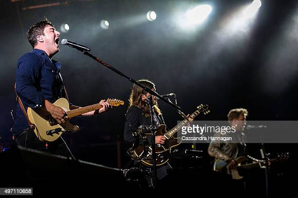 Marcus Mumford of Mumford Sons performs for The Gentlemen of the Road tour at The Domain on November 14 2015 in Sydney Australia