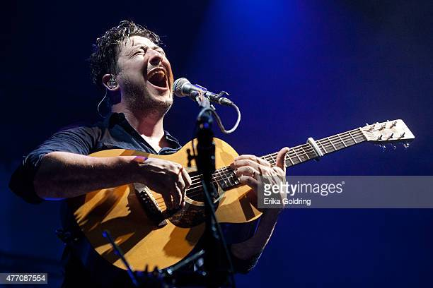 Marcus Mumford of Mumford Sons performs on June 13 2015 in Manchester Tennessee