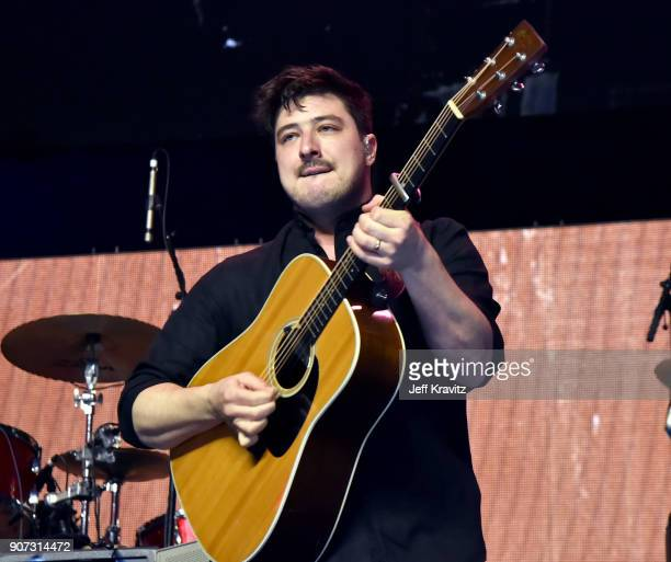 Marcus Mumford of Mumford Sons performs onstage during iHeartRadio ALTer Ego 2018 at The Forum on January 19 2018 in Inglewood United States