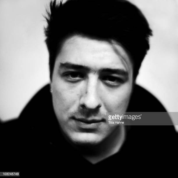 Marcus Mumford singer of Mumford And Sons poses for a studio portrait on 22nd February 2010 in Brussels Belgium