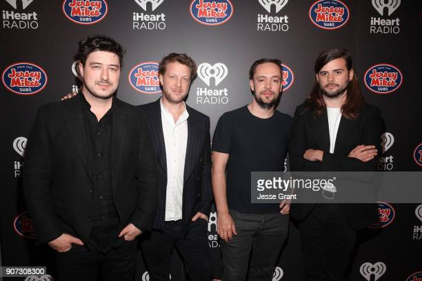 Marcus Mumford Ted Dwane Ben Lovett and Winston Marshall of Mumford Sons attend iHeartRadio ALTer Ego 2018 at The Forum on January 19 2018 in...