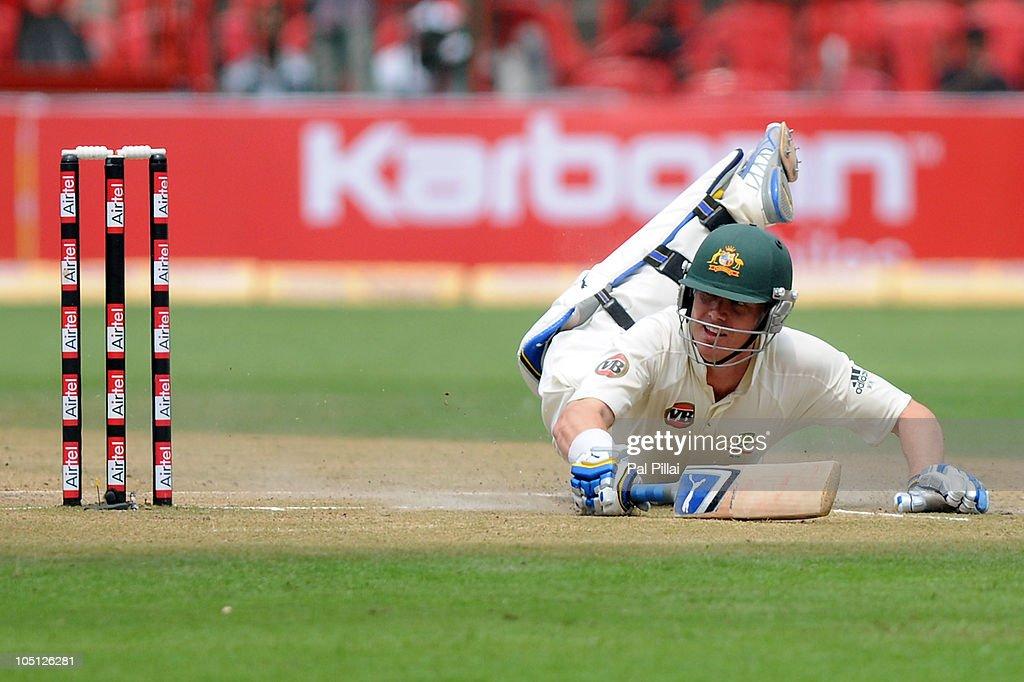 India v Australia - Second Test: Day Two