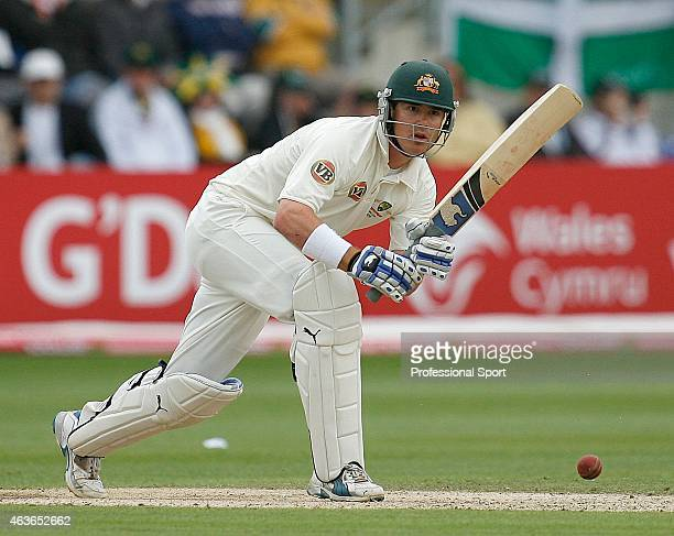 Marcus North of Australia batting during day three of the npower 1st Ashes Test Match between England and Australia at the SWALEC Stadium on July 10...