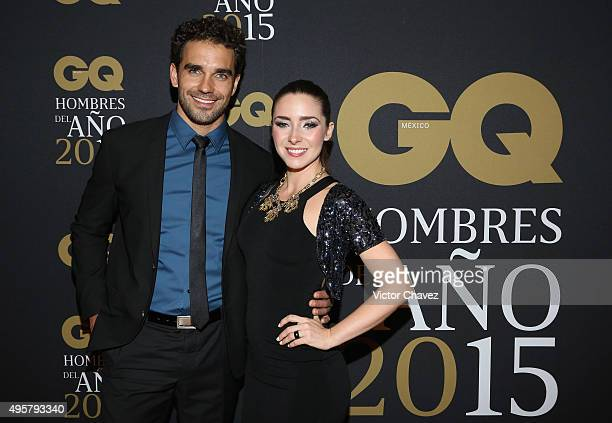 Marcus Ornelas and Ariadne Diaz attend the GQ Mexico Men of The Year 2015 awards at Live Aqua Bosques hotel on November 4 2015 in Mexico City Mexico