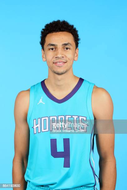 Marcus Paige of the Charlotte Hornets poses for a head shot during media day at Spectrum Center in Charlotte North Carolina NOTE TO USER User...