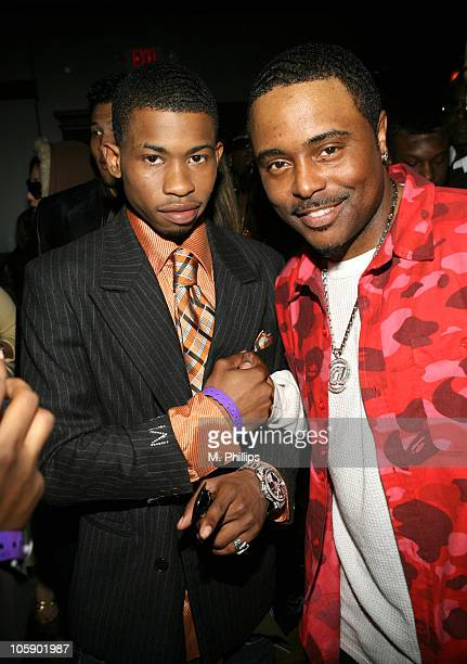 Marcus Paulk and Alex Thomas during King Magazine's 2nd Annual King Size Volume 2 Honoring Nick Cannon at Logia in Los Angeles California United...