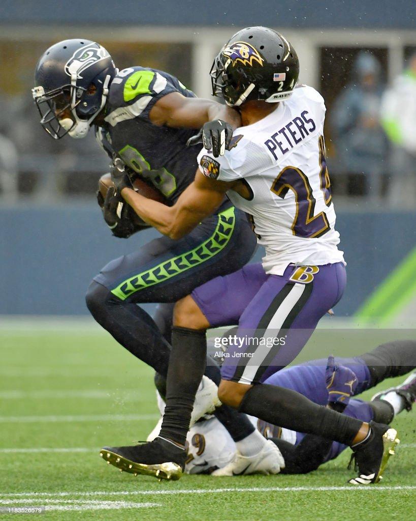 Baltimore Ravens vSeattle Seahawks : News Photo
