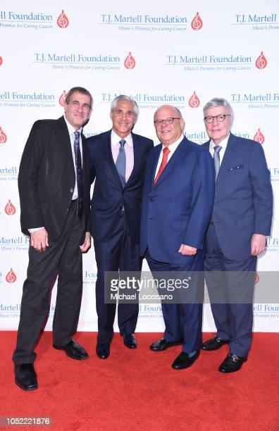 Marcus Peterzell David Satler Joel Katz and board member Don Perry attend The TJ Martell Foundation 43rd New York Honors Gala at Cipriani 42nd Street...