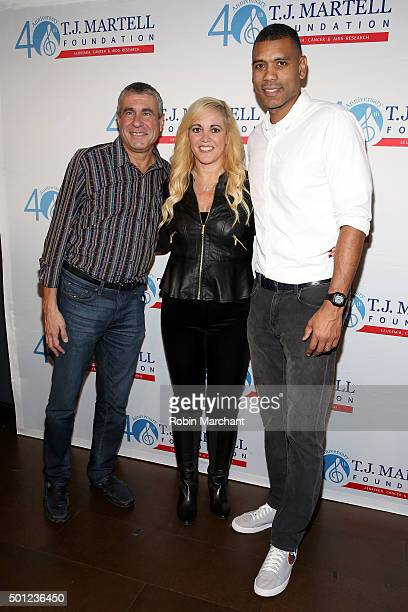 Marcus Peterzell Honoree Alissa Pollack and NBA All Star Allan Houston attend TJ Martell Foundation's 16th Annual New York Family Day at Wythe Hotel...