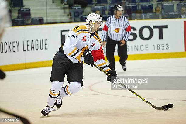 Marcus PETTERSSON during the Champions Hockey League group stage game between Bili Tygri Liberec and Skelleftea AIK on August 23 2015 in Liberec...