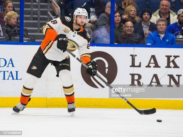 Marcus Pettersson of the Anaheim Ducks against the Tampa Bay Lightning at Amalie Arena on November 27 2018 in Tampa Florida n