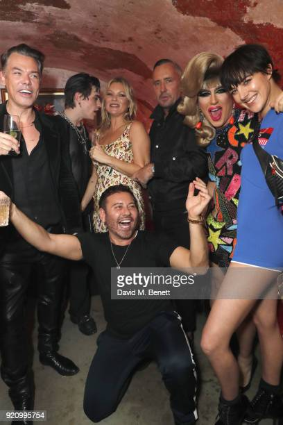 Marcus Piggott guest Mert Alas Kate Moss Fat Tony Jodie Harsh Eliza Cummings attend Mert Alas' birthday party hosted by Ciroc at MNKY HSE on February...