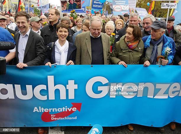 Marcus Pretzell Frauke Petry Chairwoman of the Alternative fuer Deutschland political party Alexander Gauland ViceChairman of the AfD and Beatrix von...