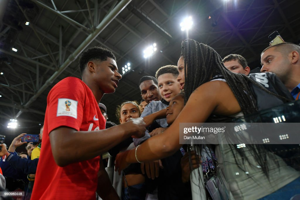 Marcus Rashford Of England Celebrates With His Family Following His News Photo Getty Images