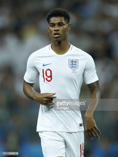 Marcus Rashford of England during the 2018 FIFA World Cup Russia Semi Final match between Croatia and England at the Luzhniki Stadium on July 11 2018...