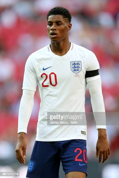 Marcus Rashford of England during the International Friendly between England and Nigeria at Wembley Stadium on June 2 2018 in London England