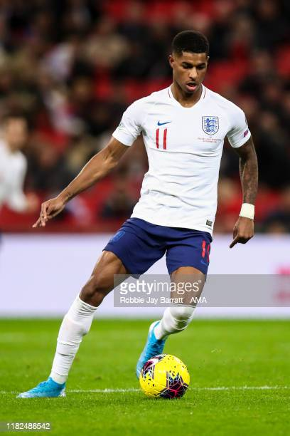 Marcus Rashford of England during the UEFA Euro 2020 qualifier between England and Montenegro at Wembley Stadium on November 14, 2019 in London,...