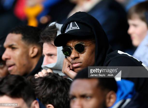 Marcus Rashford of Manchester United and England watches the match during the Sky Bet League One match between Shrewsbury Town and Portsmouth at New...