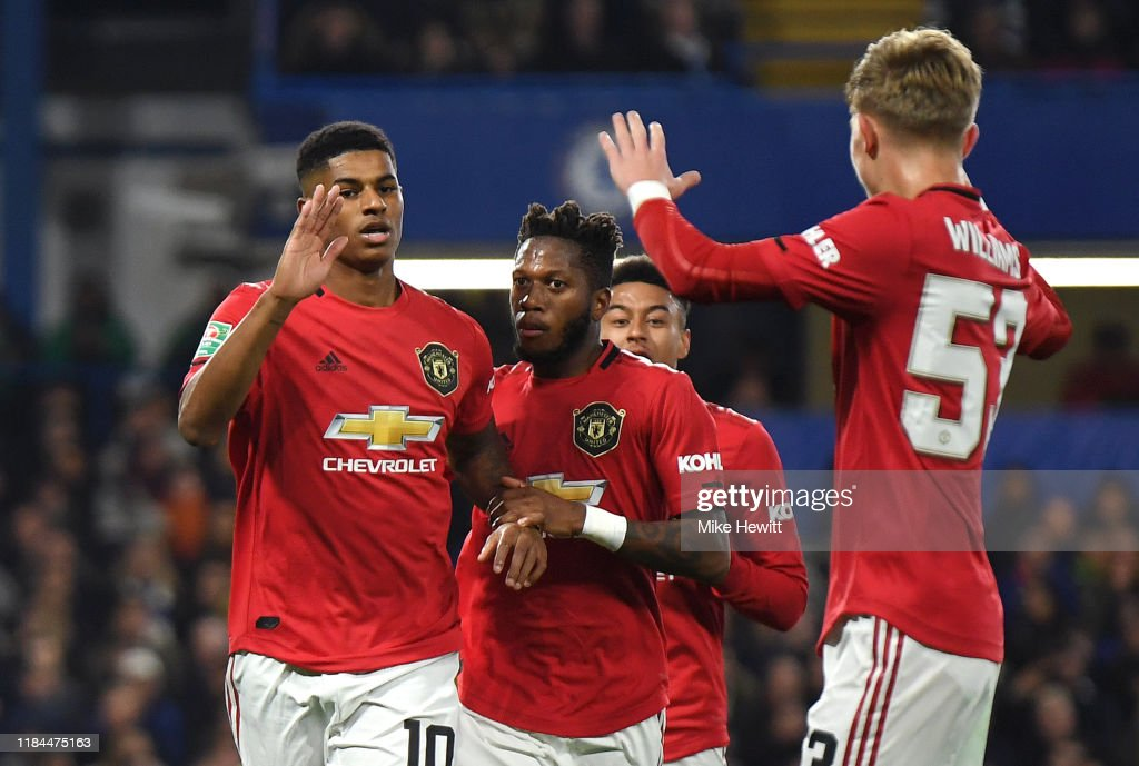 Chelsea FC v Manchester United - Carabao Cup Round of 16 : ニュース写真