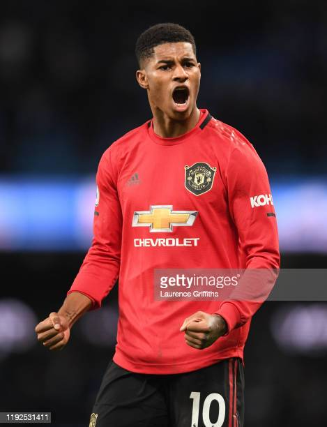 3 391 Marcus Rashford Celebrate Photos And Premium High Res Pictures Getty Images