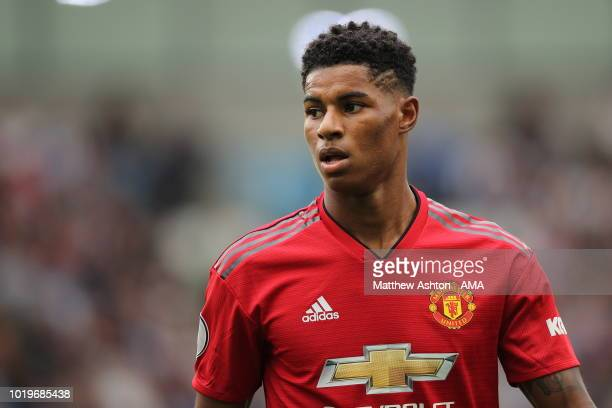 Marcus Rashford of Manchester United during the Premier League match between Brighton Hove Albion and Manchester United at American Express Community...