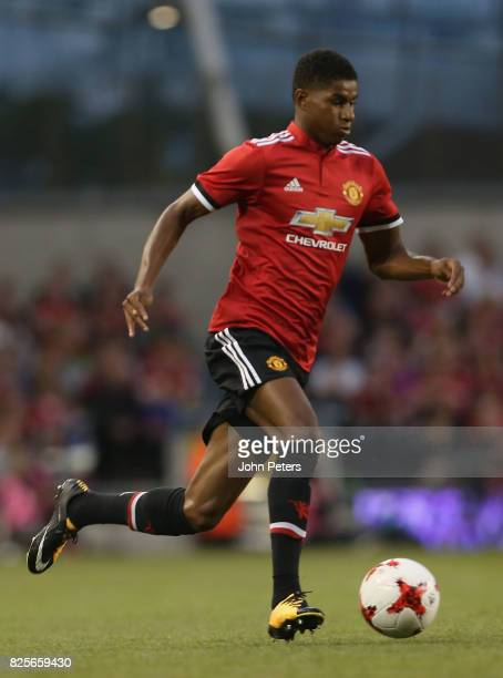Marcus Rashford of Manchester United in action during the International Champions Cup preseason friendly match between Manchester United and...