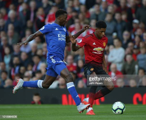 Marcus Rashford of Manchester United in action during the Premier League match between Manchester United and Leicester City at Old Trafford on August...