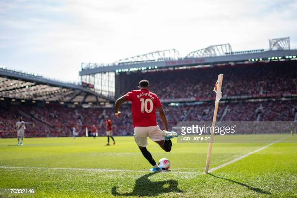 Marcus Rashford of Manchester United in action during the Premier League match between Manchester United and Crystal Palace at Old Trafford on August...