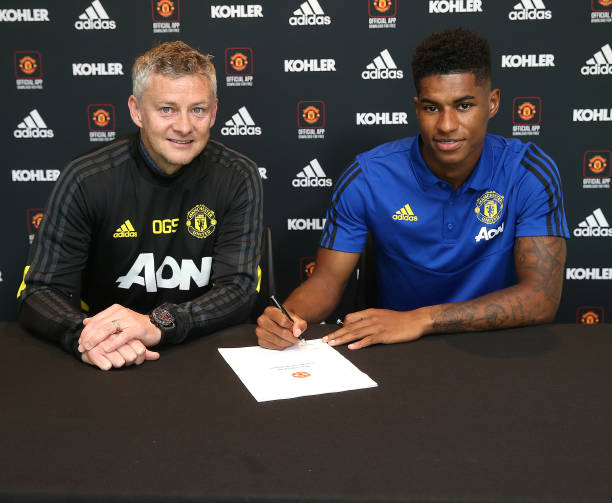 GBR: Marcus Rashford Signs a New Contract at Manchester United