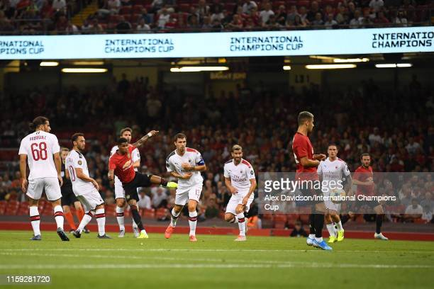 Marcus Rashford of Manchester United scores a goal to make the score 10 during the 2019 International Champions Cup match between Manchester United...