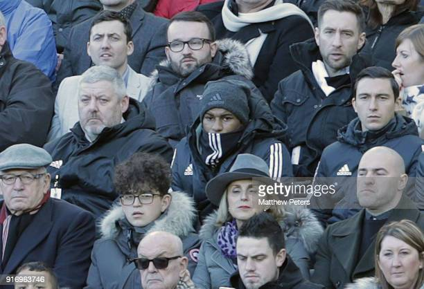 Marcus Rashford of Manchester United watches from the stands during the Premier League match between Newcastle United and Manchester United at St...