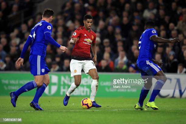 Marcus Rashford of Manchester Unitedduring the Premier League match between Cardiff City and Manchester United at Cardiff City Stadium on December 22...