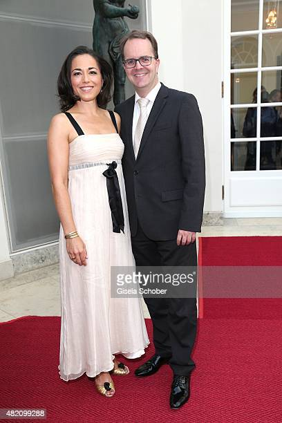 Marcus Rinderspacher and his wife Franziska Rabl during the 'Die Goldene Deutschland' Gala on July 26 2015 at Cuvillies Theater in Munich Germany