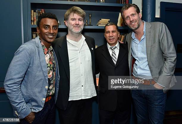 Marcus Samuelson James Murphy Former NY Governor David Paterson and Ralph Rijks attend the Heineken And James Murphy Help Great Cities Become Greater...