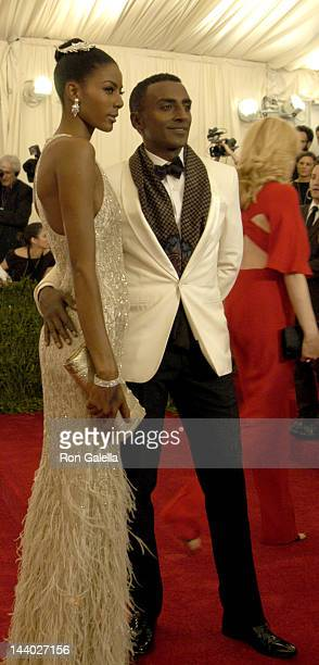 Marcus Samuelsson and wife Maya Haile Schiaparelli And Prada Impossible Conversations Costume Institute Gala on May 7 2012 at the Metropolitan Museum...