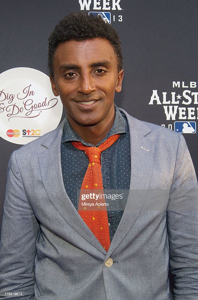 Marcus Samuelsson attends MLB Fan Cave 'Dig In And Do Good' Event at MLB Fan Cave on July 11, 2013 in New York City.