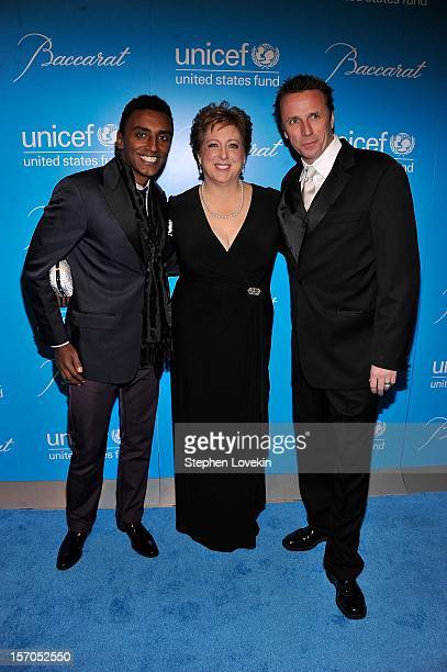 Marcus Samuelsson Carly Stern and Marc Murphy attend the Unicef SnowFlake Ball at Cipriani 42nd Street on November 27 2012 in New York City