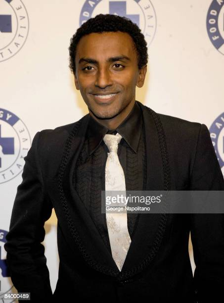 Marcus Samuelsson chef and coowner of Restaurant Aquavit attends 11th annual Food Allergy Ball at the Waldorf Astoria on December 8 2008 in New York...