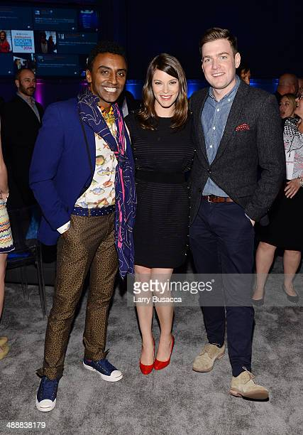 Marcus Samuelsson Gail Simmons and Max Silvestri attend the 2014 AE Networks Upfront on May 8 2014 in New York City