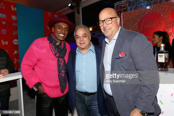 Marcus Samuelsson Lee Schrager and Andrew Zimmern attend Food Network's 25th Birthday Party Celebration at the 11th annual New York City Wine Food...