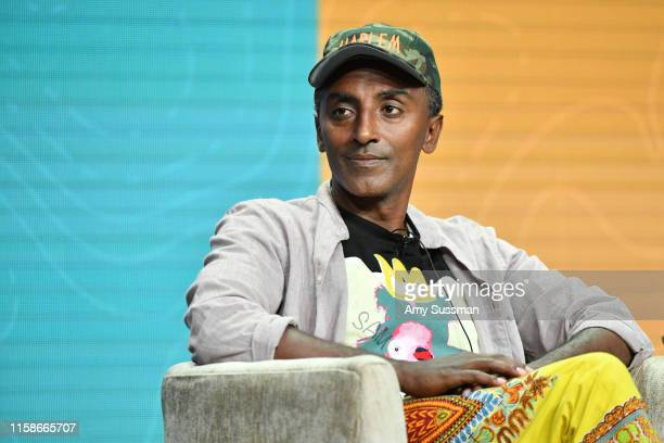 Marcus Samuelsson of No Passport Required speaks during the 2019 Summer TCA press tour at The Beverly Hilton Hotel on July 30 2019 in Beverly Hills...