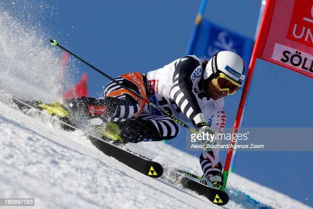 Marcus Sandell of Finland competes during the Audi FIS Alpine Ski World Cup Men's Giant Slalom on October 27 2013 in Soelden Austria