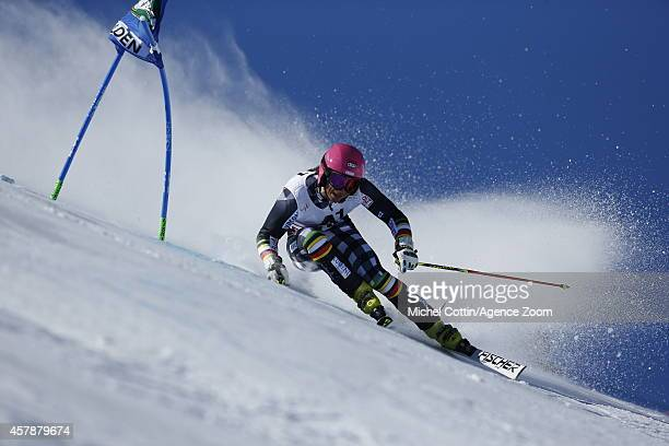 Marcus Sandell of Finland competes during the Audi FIS Alpine Ski World Cup MenÕs Giant Slalom on October 26 2014 in Soelden Austria
